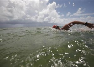 Swimmer Diana Nyad trains in Key West, Florida